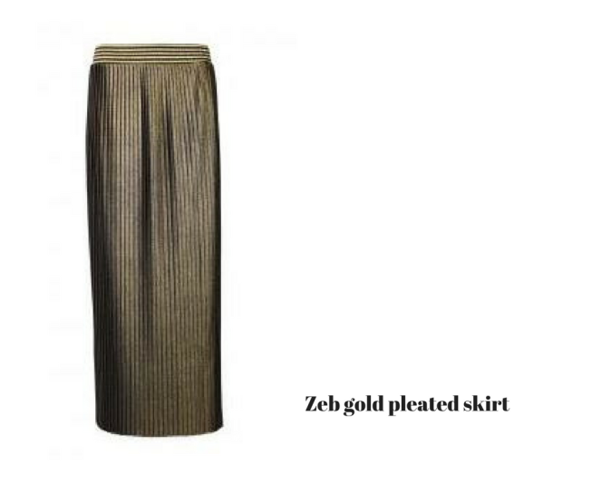 zeb-gold-pleated-skirt
