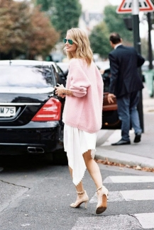 le-fashion-blog-street-style-holli-rogers-pink-sweater-asymmetrical-skirt-via-vanessa-jackman