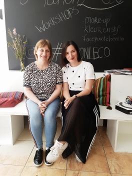 Samen met Ilse na onze workshop